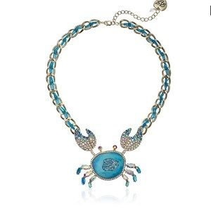 NWT Betsey Johnson Crab Necklace